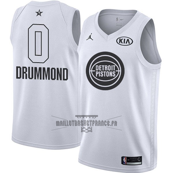 Meilleur Maillot NBA 2018 All Star NO.0 Andre Drummond Blanc
