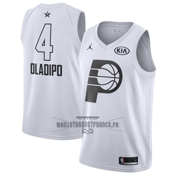 Meilleur Maillot NBA 2018 All Star NO.4 Victor Oladipo Blanc