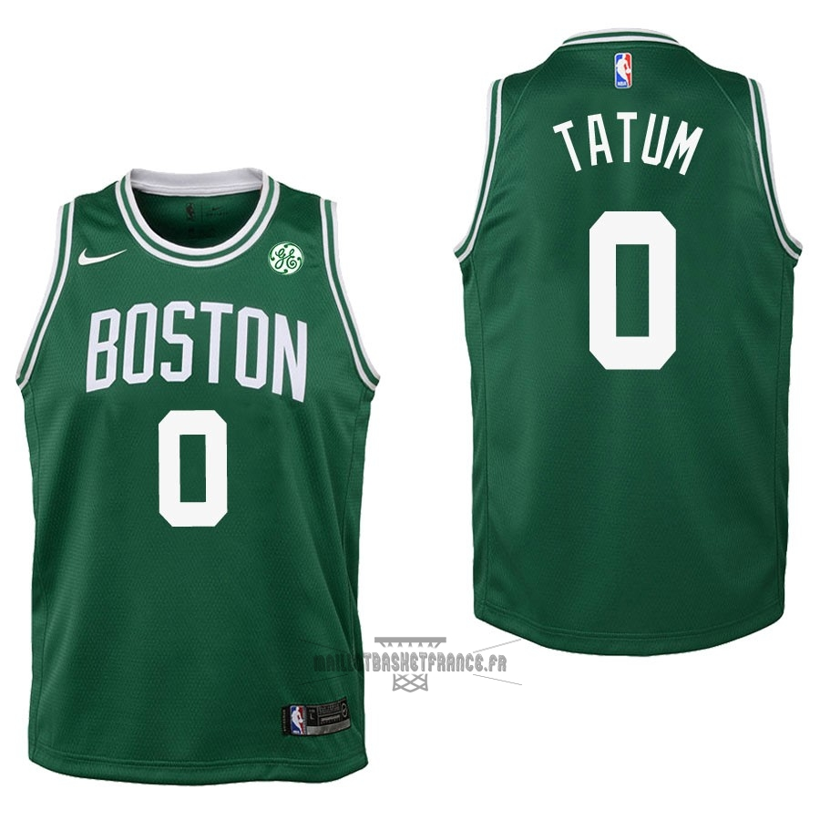 Meilleur Maillot NBA Enfant Boston Celtics NO.0 Jayson Tatum Vert 2017-18