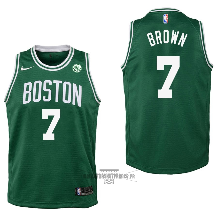 Meilleur Maillot NBA Enfant Boston Celtics NO.7 Jaylen Brown Vert 2017-18