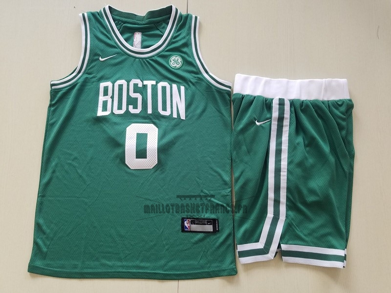 Meilleur Maillot NBA Ensemble Complet Enfant Boston Celtics NO.0 Jayson Tatum Vert 2017-18