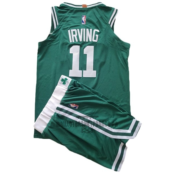 Meilleur Maillot NBA Ensemble Complet Enfant Boston Celtics NO.11 Kyrie Irving Vert