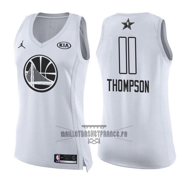 Meilleur Maillot NBA Femme 2018 All Star NO.11 Klay Thompson Blanc