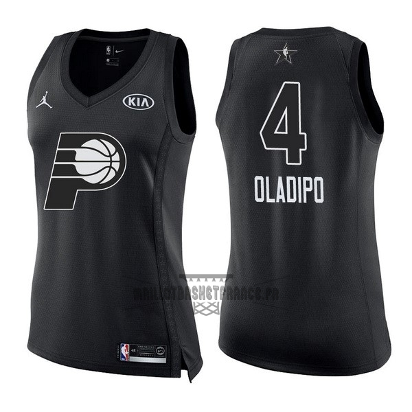 Meilleur Maillot NBA Femme 2018 All Star NO.4 Victor Oladipo Noir