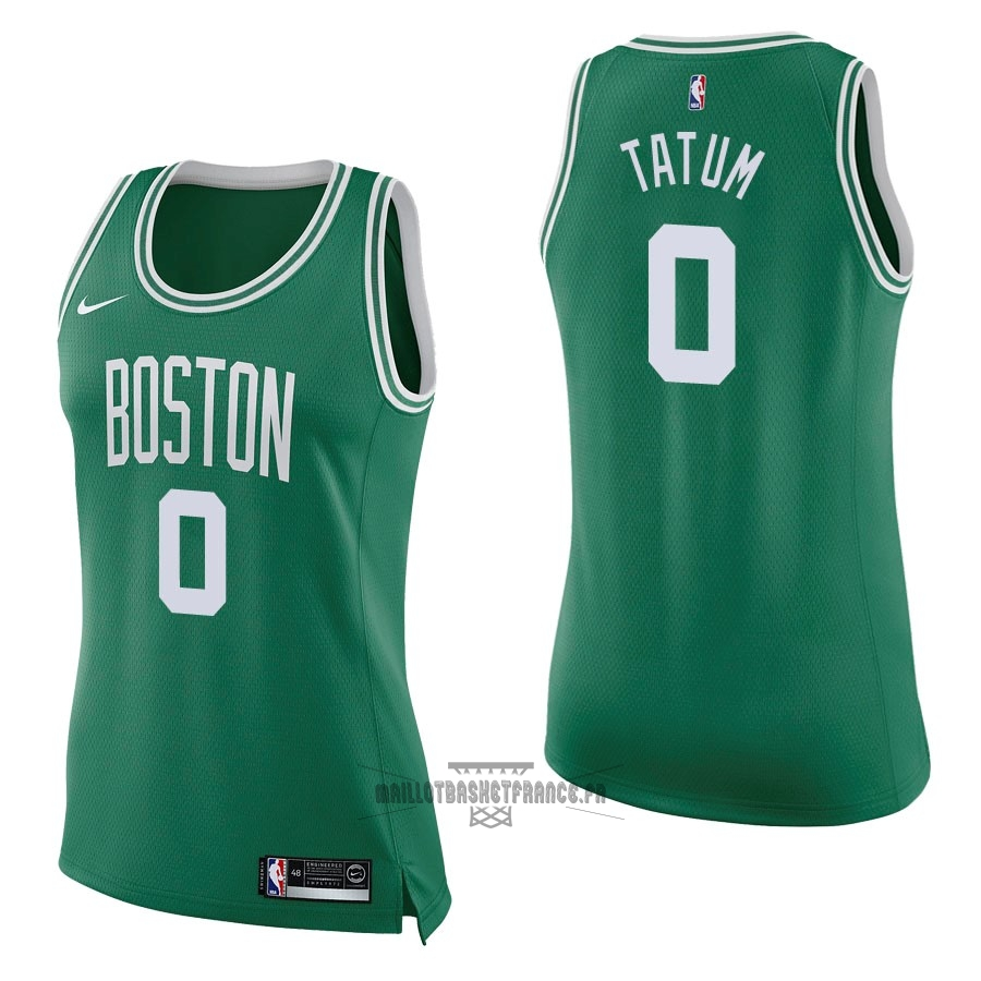 Meilleur Maillot NBA Femme Boston Celtics NO.0 Jayson Tatum Vert Icon