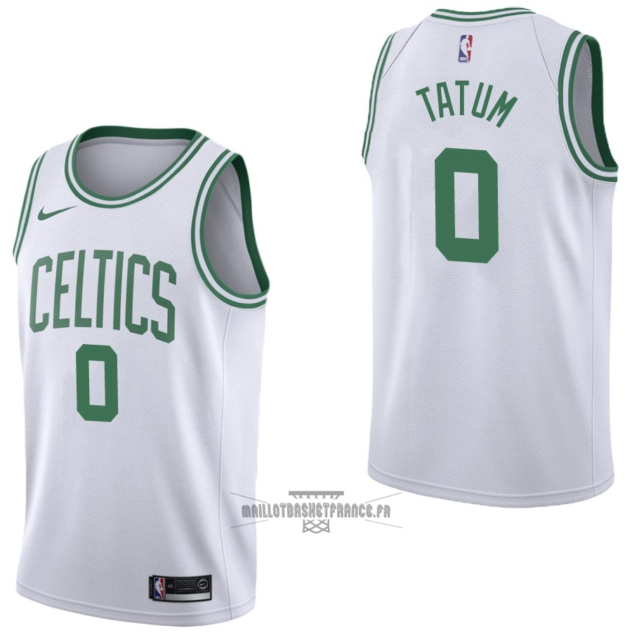 Meilleur Maillot NBA Nike Boston Celtics NO.0 Jayson Tatum Blanc Association