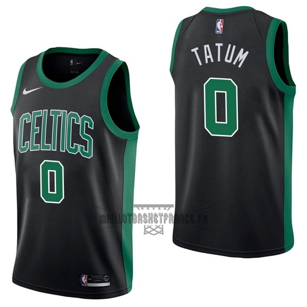 Meilleur Maillot NBA Nike Boston Celtics NO.0 Jayson Tatum Noir Statement