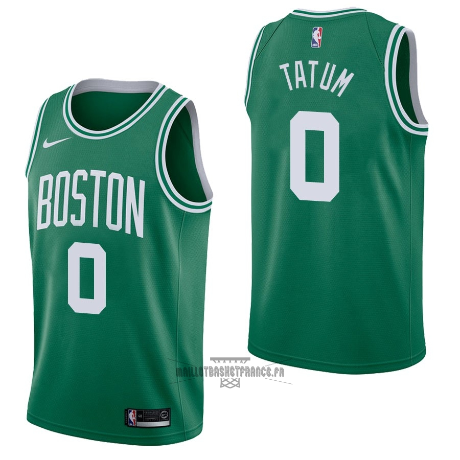 Meilleur Maillot NBA Nike Boston Celtics NO.0 Jayson Tatum Vert Icon