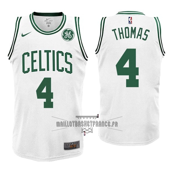 Meilleur Maillot NBA Nike Boston Celtics NO.4 Isaiah Thomas Blanc