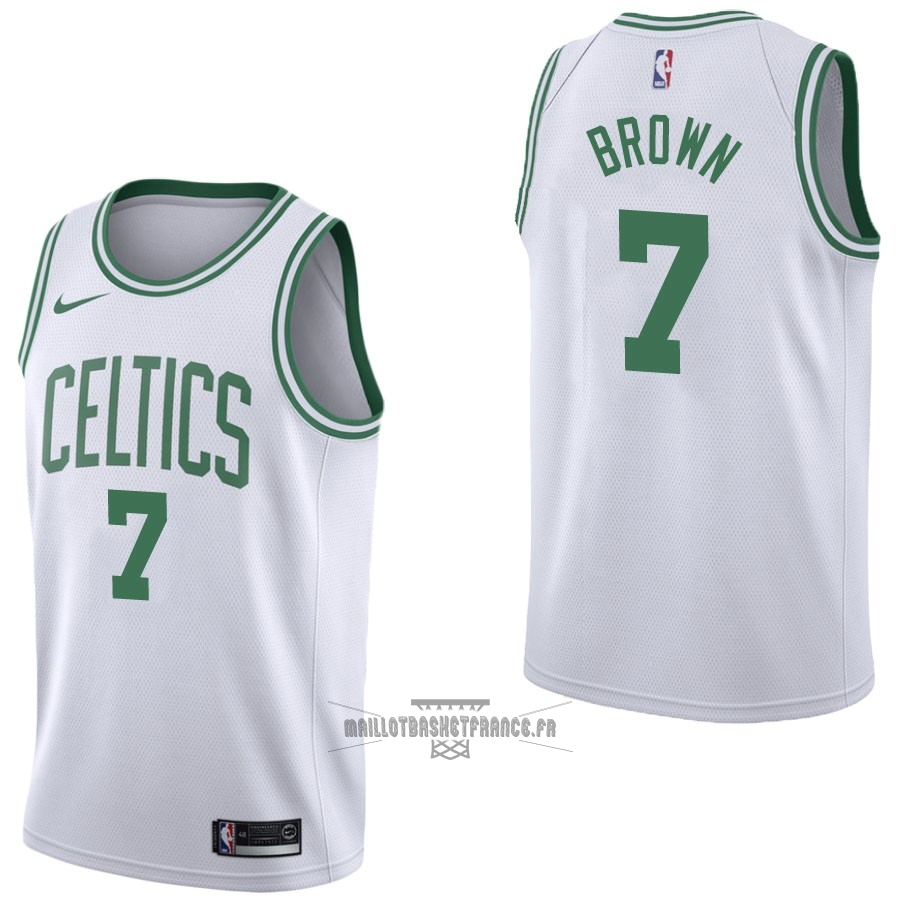 Meilleur Maillot NBA Nike Boston Celtics NO.7 Jaylen Brown Blanc Association