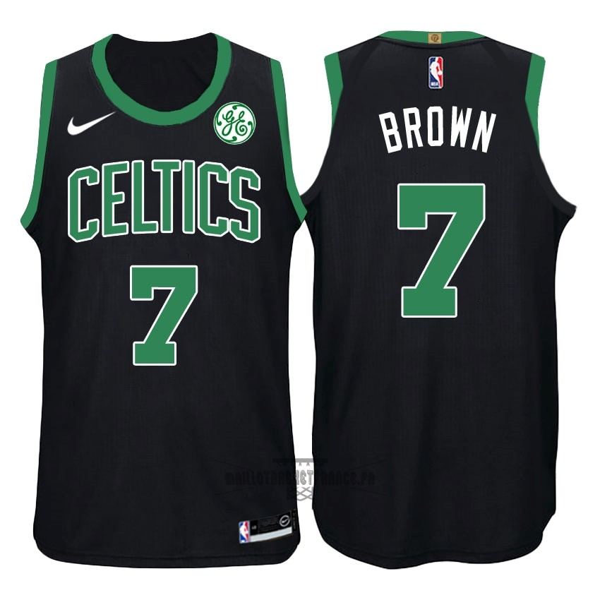 Meilleur Maillot NBA Nike Boston Celtics NO.7 Jaylen Brown Noir