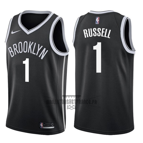Meilleur Maillot NBA Nike Brooklyn Nets NO.1 D'Angelo Russell Noir Icon