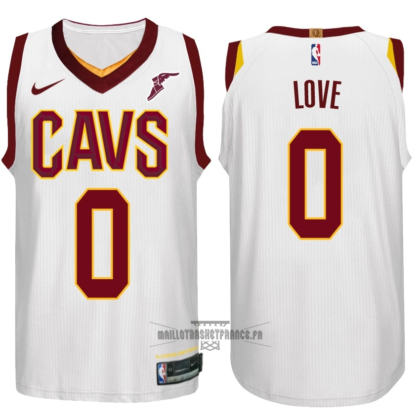 Meilleur Maillot NBA Nike Cleveland Cavaliers NO.0 Kevin Love Blanc