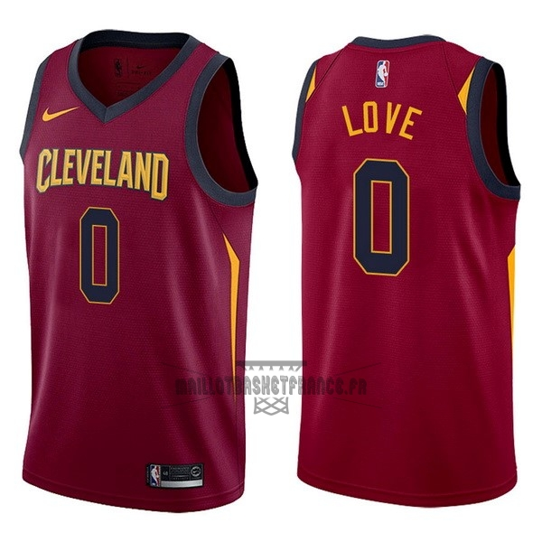 Meilleur Maillot NBA Nike Cleveland Cavaliers NO.0 Kevin Love Rouge Icon