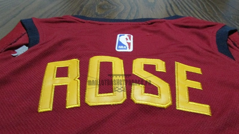 Meilleur Maillot NBA Nike Cleveland Cavaliers NO.1 Derrick Rose Rouge