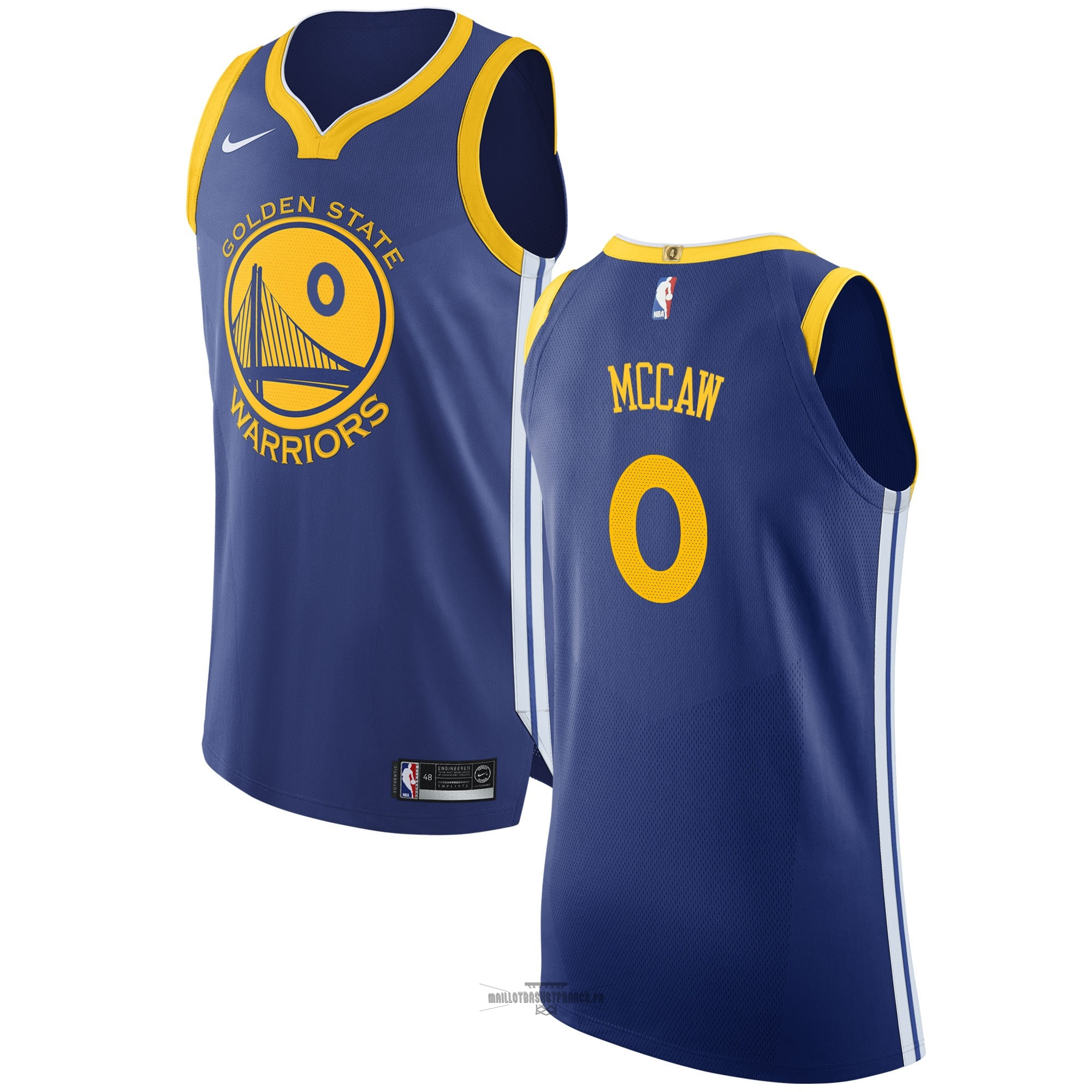 Meilleur Maillot NBA Nike Golden State Warriors NO.0 Patrick McCaw Bleu Icon
