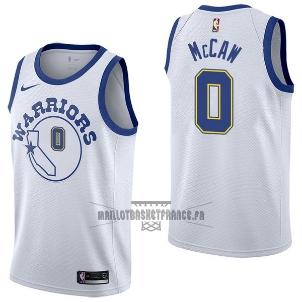 Meilleur Maillot NBA Nike Golden State Warriors NO.0 Patrick McCaw Nike Retro Blanc