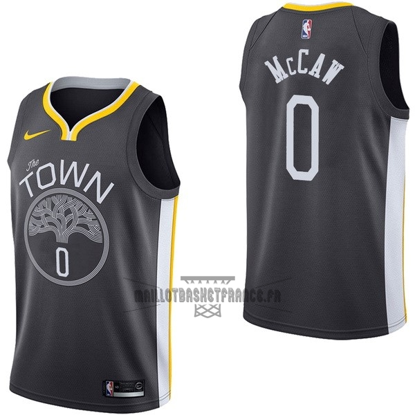 Meilleur Maillot NBA Nike Golden State Warriors NO.0 Patrick McCaw Noir Statement