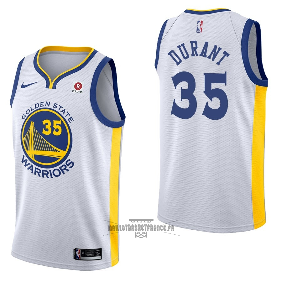 2197c055789c3 Meilleur Maillot NBA Nike Golden State Warriors NO.35 Kevin Durant Blanc