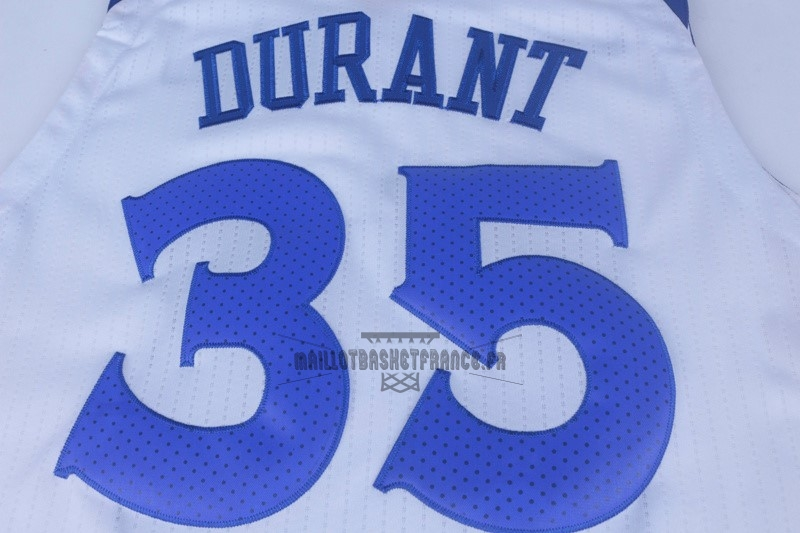 bf0f499cc43f8 Meilleur Maillot NBA Nike Golden State Warriors NO.35 Kevin Durant Blanc ...