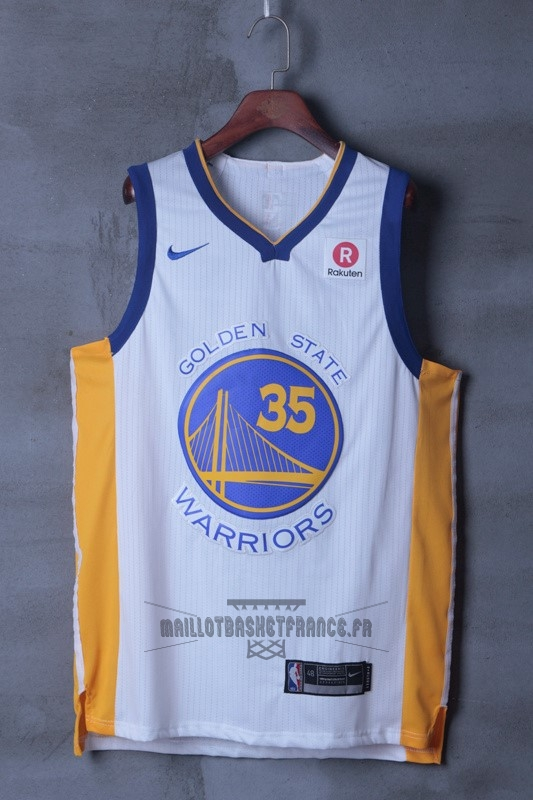 661fe73459e68 ... Meilleur Maillot NBA Nike Golden State Warriors NO.35 Kevin Durant Blanc  ...