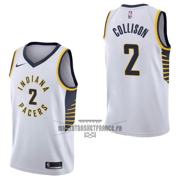 Meilleur Maillot NBA Nike Indiana Pacers NO.2 Darren Collison Blanc Association