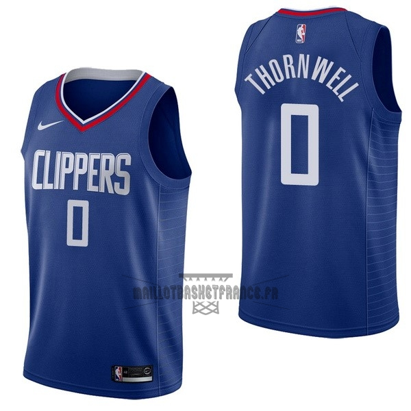 Meilleur Maillot NBA Nike Los Angeles Clippers NO.0 Sindarius Thornwell Bleu Icon