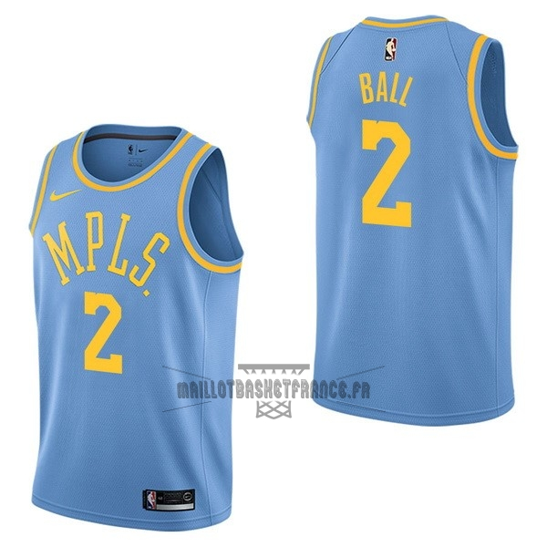 3a3ca344a52 Meilleur Maillot NBA Nike Los Angeles Lakers NO.2 Lonzo Ball Retro Bleu