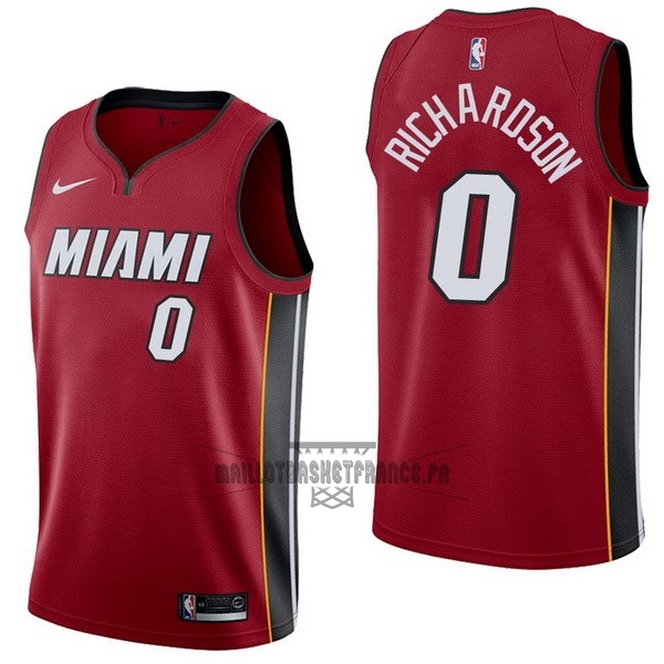 Meilleur Maillot NBA Nike Miami Heat NO.0 Josh Richardson Rouge Statement