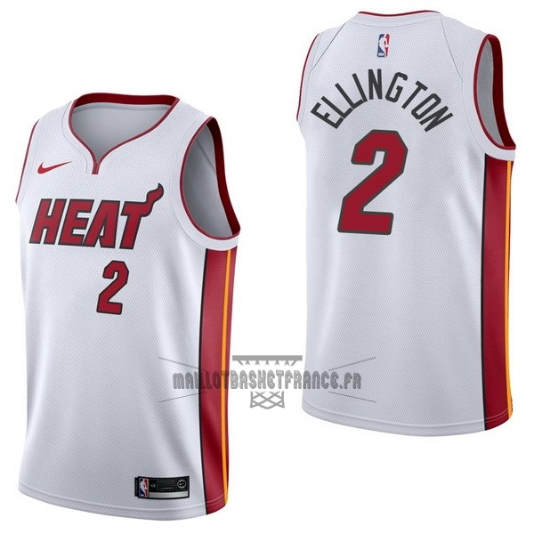 Meilleur Maillot NBA Nike Miami Heat NO.2 Wayne Ellington Blanc Association