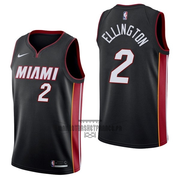 Meilleur Maillot NBA Nike Miami Heat NO.2 Wayne Ellington Noir Icon