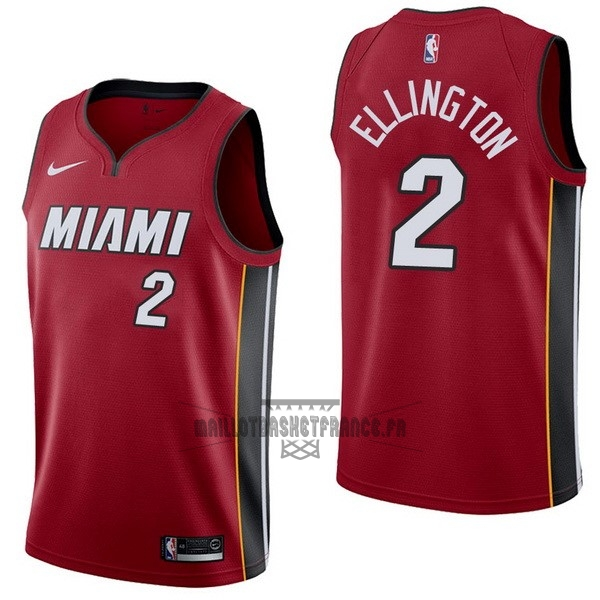 Meilleur Maillot NBA Nike Miami Heat NO.2 Wayne Ellington Rouge Statement