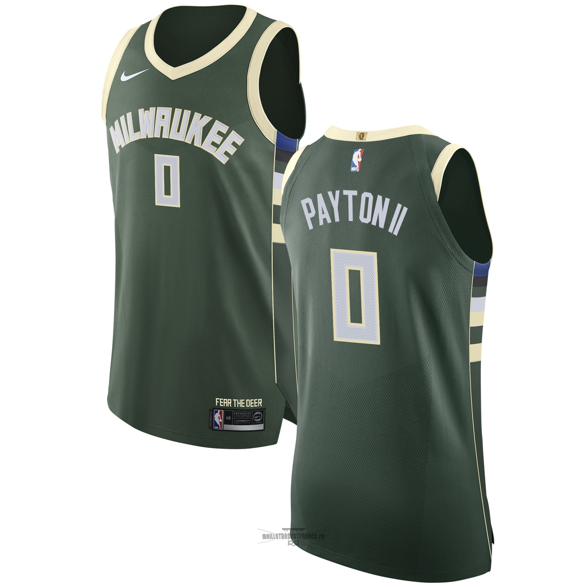 Meilleur Maillot NBA Nike Milwaukee Bucks NO.0 Gary Payton II Vert Icon