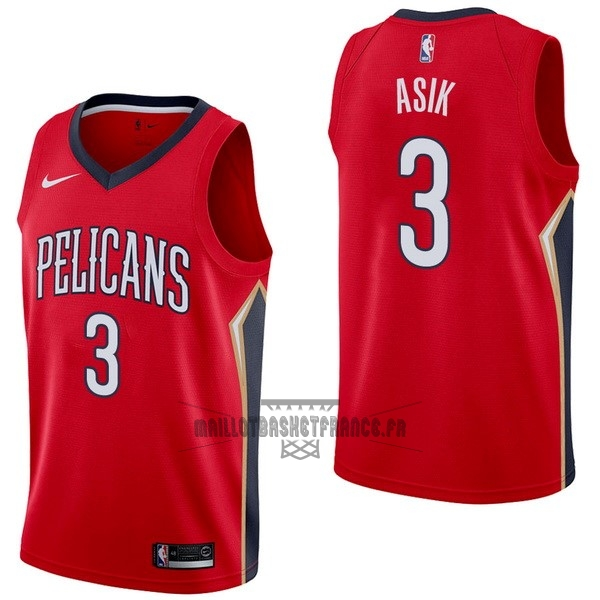 Meilleur Maillot NBA Nike New Orleans Pelicans NO.3 Omer Asik Rouge Statement