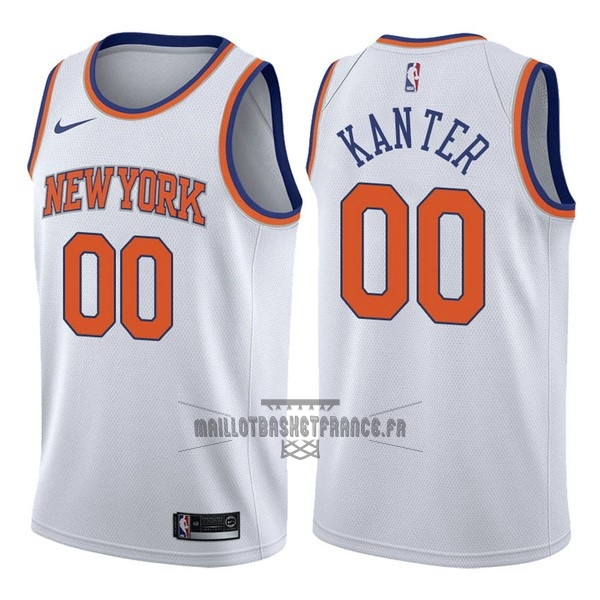 Meilleur Maillot NBA Nike New York Knicks NO.0 Enes Kanter Blanc Association