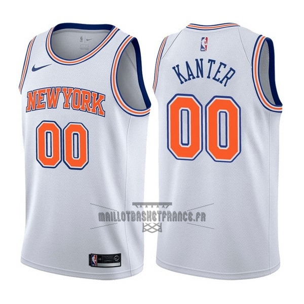 Meilleur Maillot NBA Nike New York Knicks NO.0 Enes Kanter Blanc Statement
