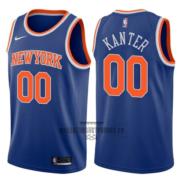 Meilleur Maillot NBA Nike New York Knicks NO.0 Enes Kanter Bleu Icon