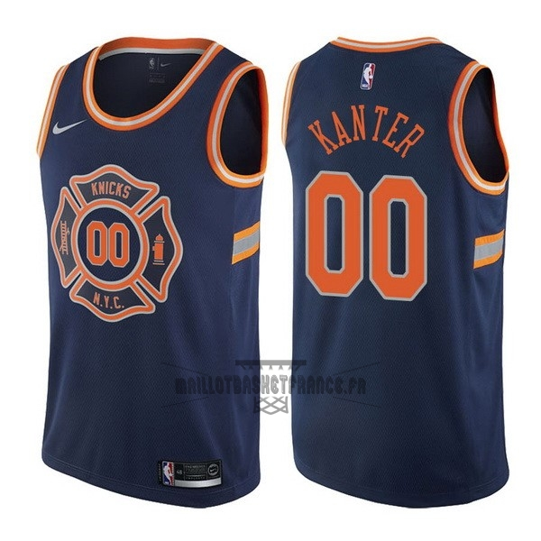 Meilleur Maillot NBA Nike New York Knicks NO.0 Enes Kanter Nike Bleu Ville