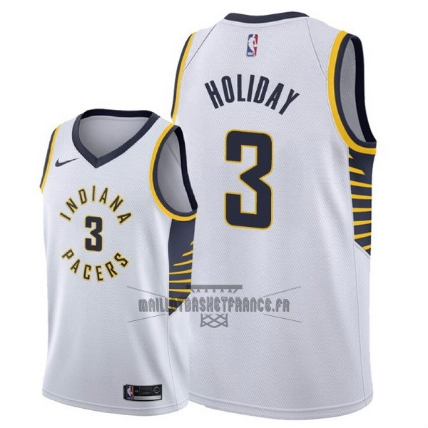 Meilleur Maillot NBA Nike Indiana Pacers NO.3 Aaron Holiday Blanc Association 2018