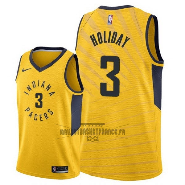 Meilleur Maillot NBA Nike Indiana Pacers NO.3 Aaron Holiday Jaune Statement 2018