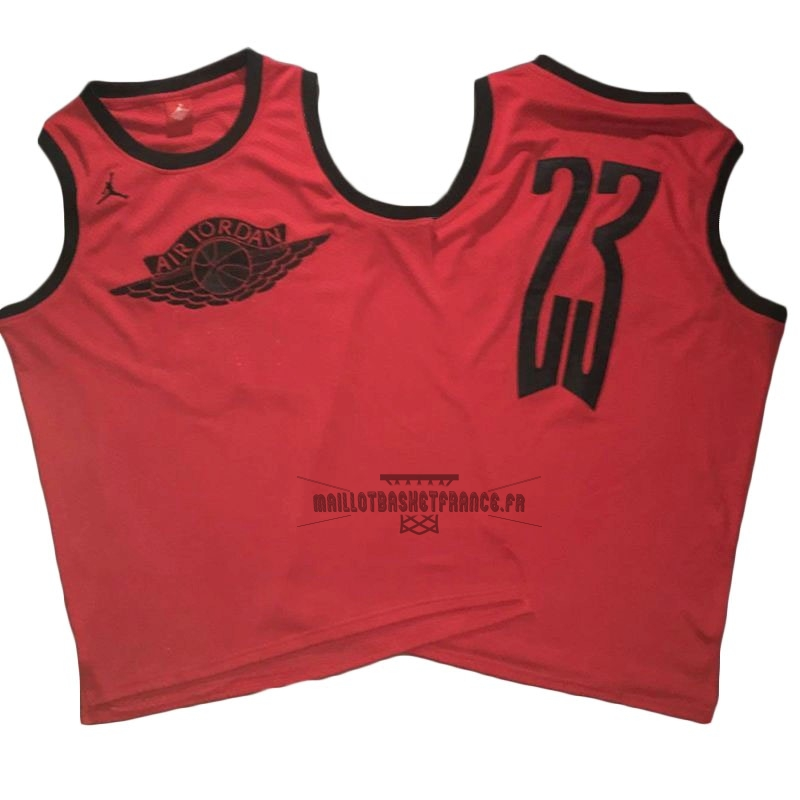 Meilleur Maillot NBA Chicago Bulls NO.23 Michael Jordan Flying Wing Logo Rouge