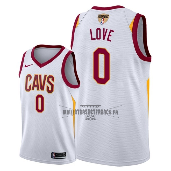 Meilleur Maillot NBA Cleveland Cavaliers 2018 Final Champions NO.0 Kevin Love Blanc Association Patch