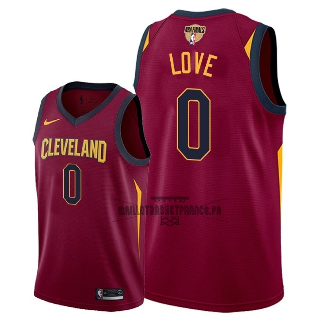 Meilleur Maillot NBA Cleveland Cavaliers 2018 Final Champions NO.0 Kevin Love Rouge Icon Patch