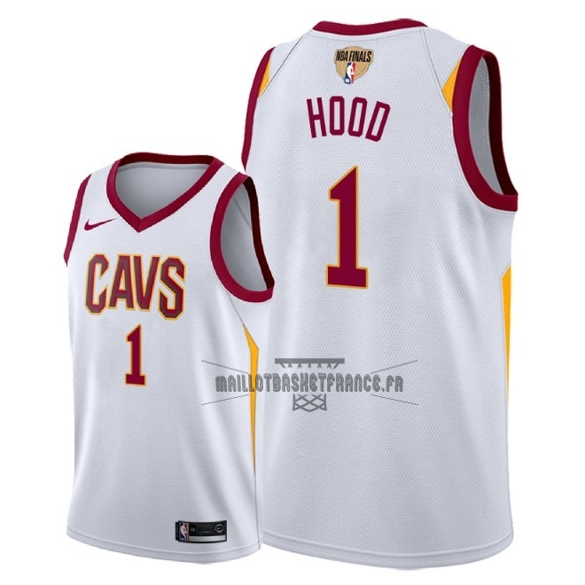Meilleur Maillot NBA Cleveland Cavaliers 2018 Final Champions NO.1 Rodney Hood Blanc Association Patch