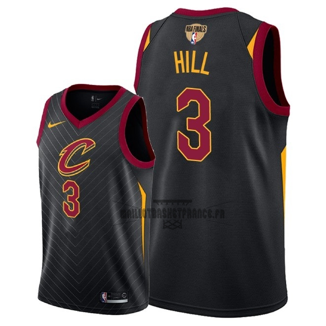 Meilleur Maillot NBA Cleveland Cavaliers 2018 Final Champions NO.3 George Hill Noir Statement Patch