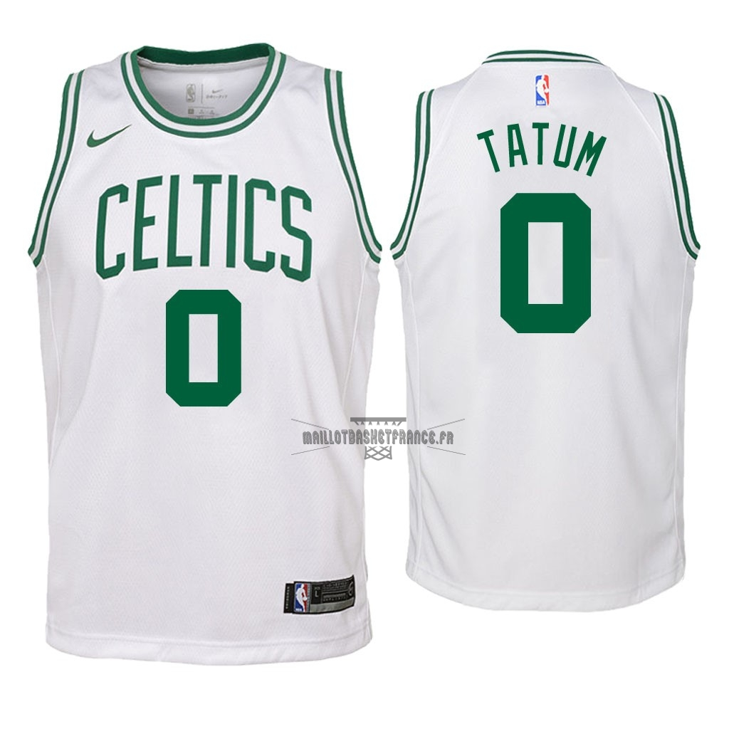 Meilleur Maillot NBA Enfant Boston Celtics NO.0 Jayson Tatum Blanc Association 2018