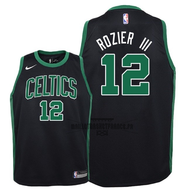 Meilleur Maillot NBA Enfant Boston Celtics NO.12 Terry Rozier III Noir Statement 2018