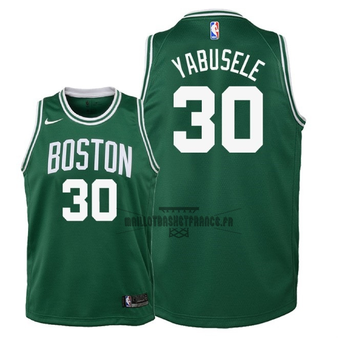 Meilleur Maillot NBA Enfant Boston Celtics NO.30 Guerschon Yabusele Vert Icon 2018