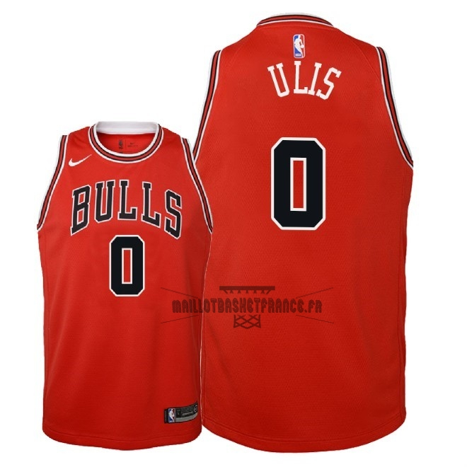 Meilleur Maillot NBA Enfant Chicago Bulls NO.0 Tyler Ulis Rouge Icon 2018
