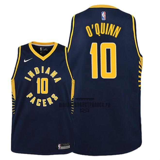 Meilleur Maillot NBA Enfant Indiana Pacers NO.10 Kyle O'Quinn Marine Icon 2018-19